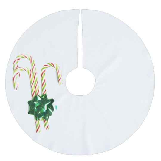 Stunning Christmas Candy Canes Brushed Polyester Tree Skirt