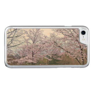 🌸↷Stunning Dazzling Cherry Blossoms Slim fit Carved iPhone 8/7 Case