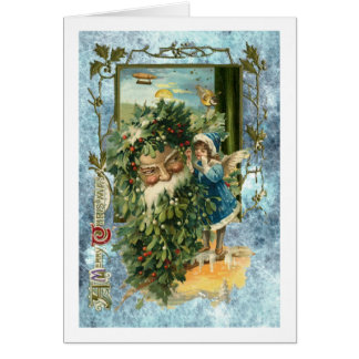 Stunning Father Christmas with steampunk twist Card