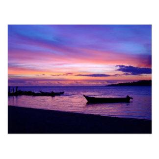 Stunning Fijian Sunset Postcard