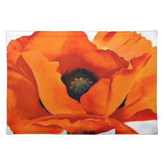 Stunning Georgia O'Keeffe Red Poppy Placemat