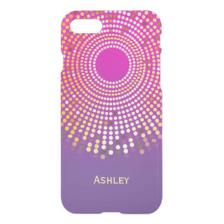 Stunning Girly Pink Purple Ombre Fuchsia Colors iPhone 7 Case