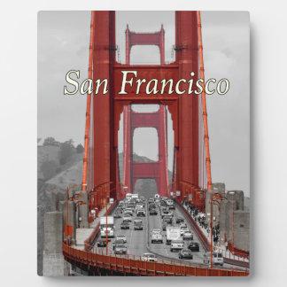 STUNNING! GOLDEN GATE BRIDGE CALIFORNIA USA PLAQUE