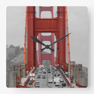 STUNNING! GOLDEN GATE BRIDGE CALIFORNIA USA SQUARE WALL CLOCK