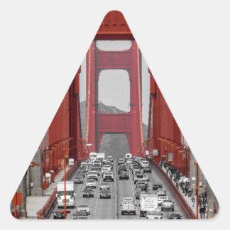 STUNNING! GOLDEN GATE BRIDGE CALIFORNIA USA TRIANGLE STICKER