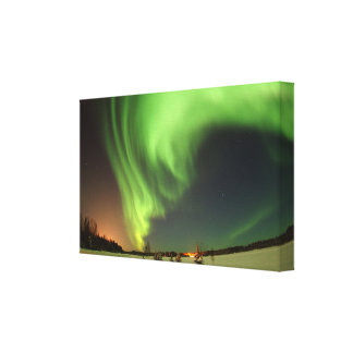Stunning Green Alaska Skies at Night Canvas Print