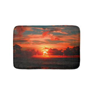 Stunning Hawaiian Tropical Sunset Bath Mat