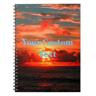 Stunning Hawaiian Tropical Sunset Notebook