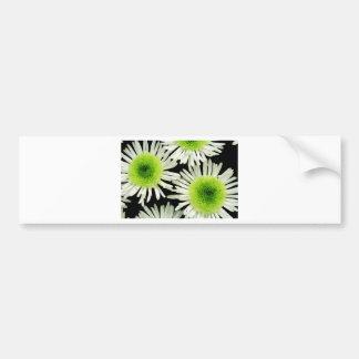 Stunning lime green dahlia print bumper sticker