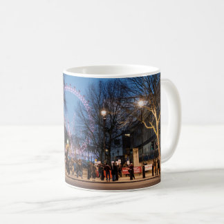 Stunning London eye at night mug
