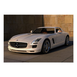 Stunning mercedes sports car poster