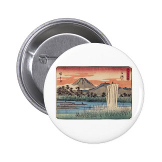 Stunning Mt Fuji in Japan circa 1800s Pinback Button