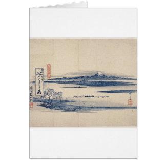 Stunning Mt. Fuji in Japan circa 1800s Greeting Card