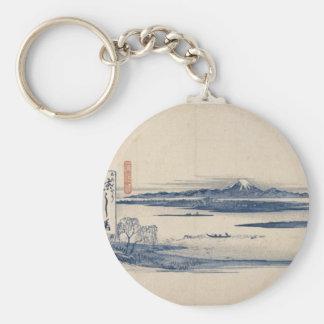 Stunning Mt. Fuji in Japan circa 1800s Keychains