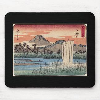 Stunning Mt Fuji in Japan circa 1800s Mousepads