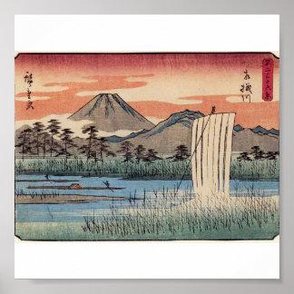 Stunning Mt. Fuji in Japan circa 1800s Poster