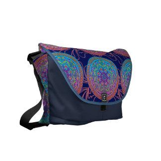 Stunning Multi Color Rickshaw Messenger Courier Bag