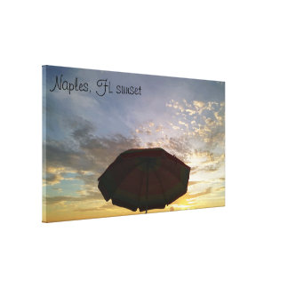 Stunning Naples, FL Sunset Picture Wrapped Canvas