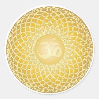 Stunning Om Symbol Classic Round Sticker