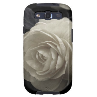 Stunning pale cream roses print samsung galaxy s3 cases