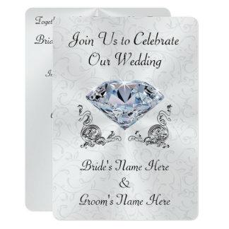 Stunning Personalized Diamond Wedding Invitations