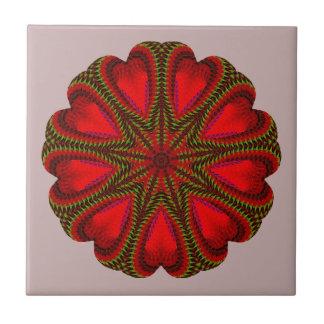Stunning Red Christmas Motif Tile