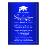 Stunning Royal Blue Gradient Graduate Graduation 13 Cm X 18 Cm Invitation Card