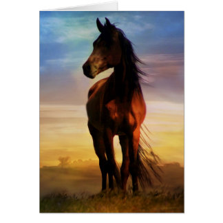 Stunning Silhouette Equine Sympathy Card