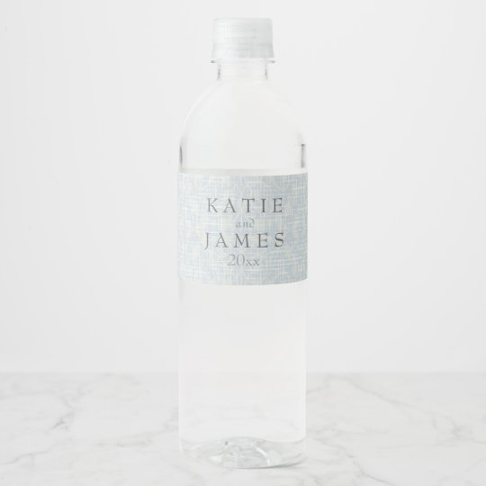 Stunning Silver & Lace Water Bottle Label