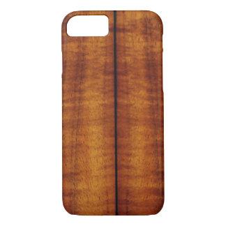 Stunning Split Hawaiian Koa Longboard Style iPhone 7 Case