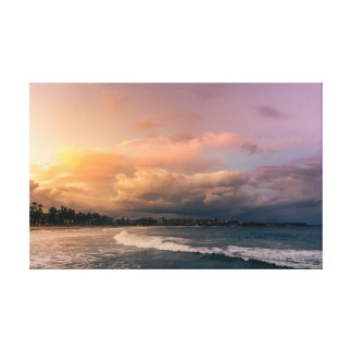 Stunning sunset above Manly Beach, Australia Canvas Print