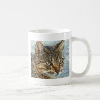 Stunning Tabby Cat Close Up Portrait Coffee Mug