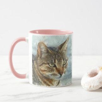 Stunning Tabby Cat Close Up Portrait Mug