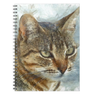 Stunning Tabby Cat Close Up Portrait Notebook
