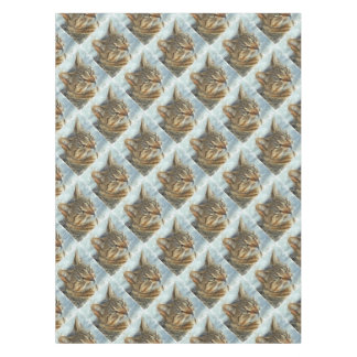 Stunning Tabby Cat Close Up Portrait Tablecloth