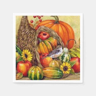 stunning Thanksgiving arrangement Disposable Serviettes