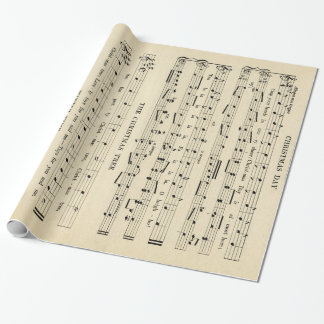 Stunning Unusual Vintage Christmas Music Sheet