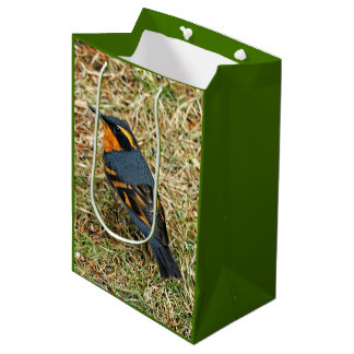 Stunning Varied Thrush on the Lawn Medium Gift Bag