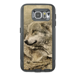 Stunning vintage wolf lying down OtterBox samsung galaxy s6 case