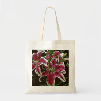Stunning White Lily Flowers Canvas Bag