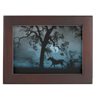 Stunningly beautiful Horse and Moon keepsake Box