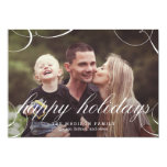 Stunningly Scripted Holiday Photo Card Personalized Invites