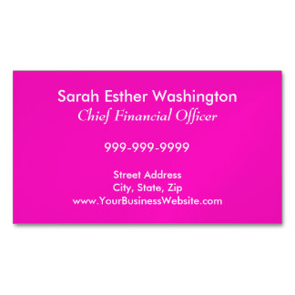 Stunningly Vivacious Pink Color Magnetic Business Cards