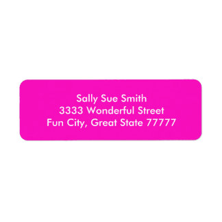Stunningly Vivacious Pink Color Return Address Label