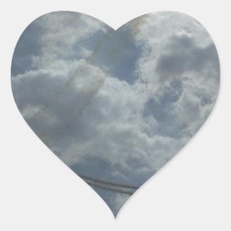 Stunt Flying Display Heart Sticker