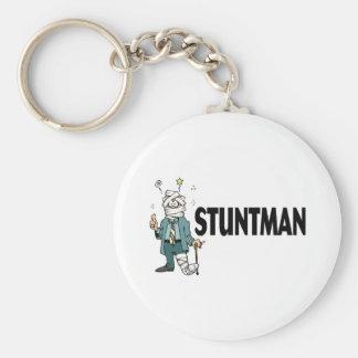 Stuntman Basic Round Button Key Ring