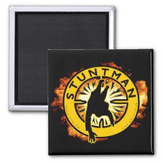 """Stuntman Fridge Magnet - 2""""x2"""" square"""