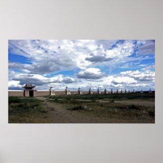 Stupa Wall at Erdene Zuu Monastery, Mongolia Poster
