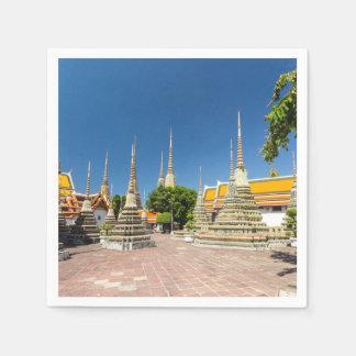 Stupas, Wat Pho, Bangkok, Thailand Paper Napkins