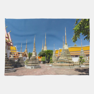 Stupas, Wat Pho, Bangkok, Thailand Tea Towel